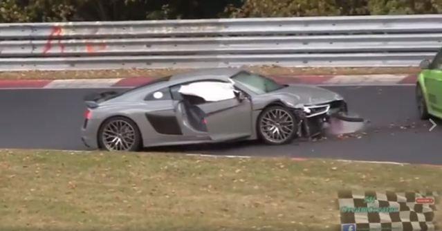 VIDEO: Audi R8 Crashed at the Nurburgring