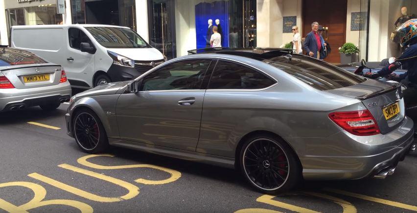 VIDEO: Loud Mercedes C63 AMG Gets Keyed in London