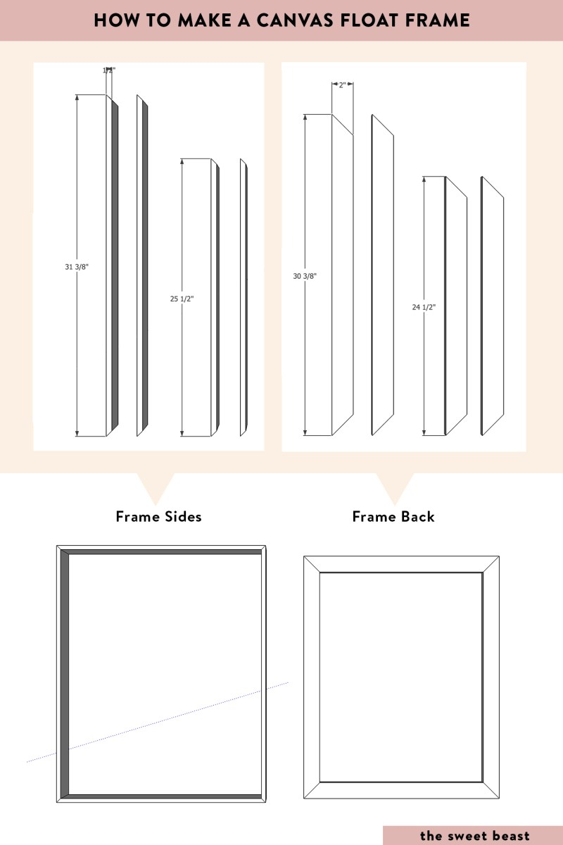White How To Make A Canvas Float Frame Diy Wood Canvas Float Frame ...