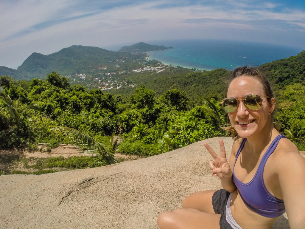 GoPro Travel Selfie Hiking in Koh Tao, Thailand