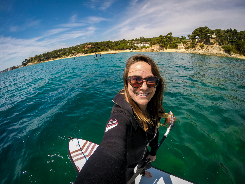 GoPro Travel Selfie SUP in Costa Brava, Spain