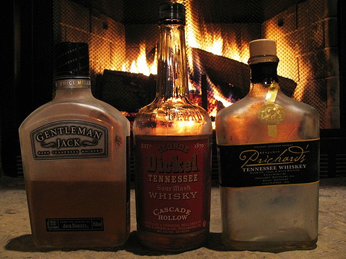 Smoky Mountain cocktails by the fire