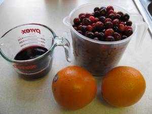 Cranberries, oranges, and port wine!
