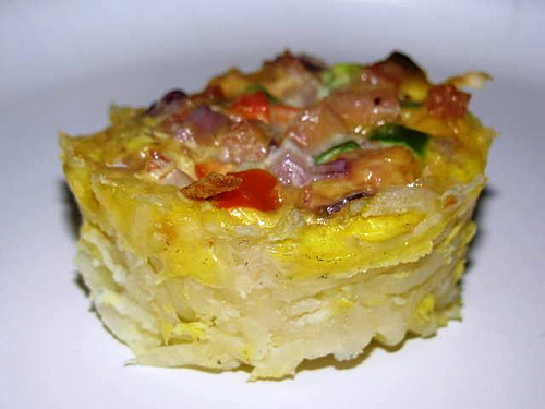 Individual Ham, Cheese and Veggie Frittatas