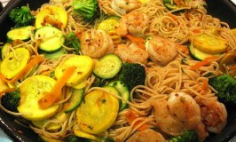 Shrimp and Summer Vegetable Linguine