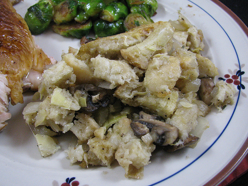 Sourdough Parmesan Artichoke Stuffing