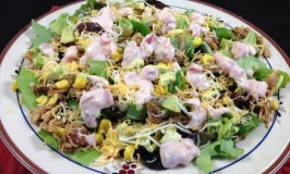 Chipotle Chicken Salad With Creamy Salsa Dressing