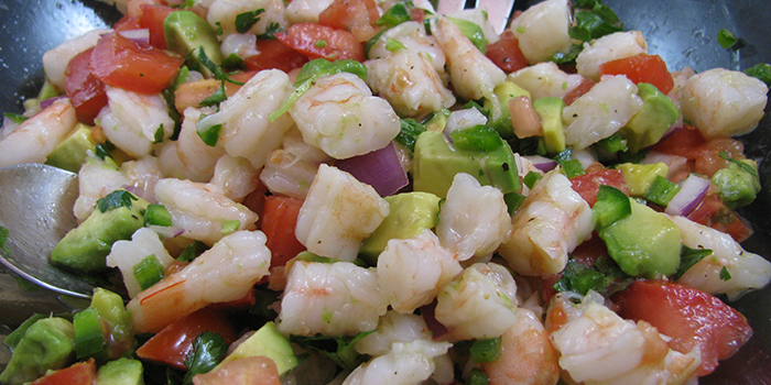 Gina's Easy Zesty Lime, Shrimp, and Avocado Salad