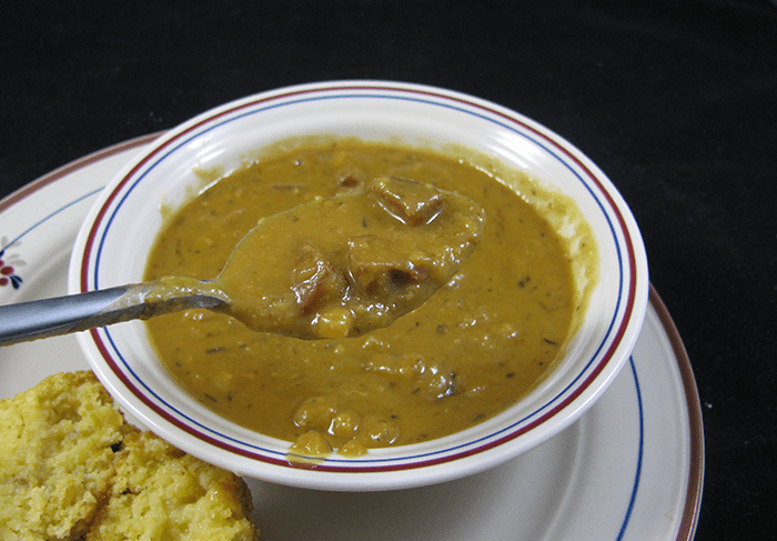 Creole Split Pea Soup with Andouille