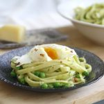 Pasta with Ramp Pesto, Peas, and Egg
