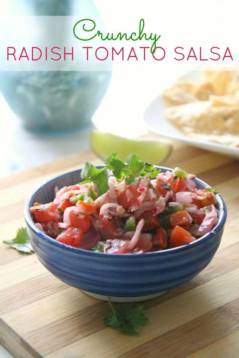 Crunchy Radish Tomato Salsa
