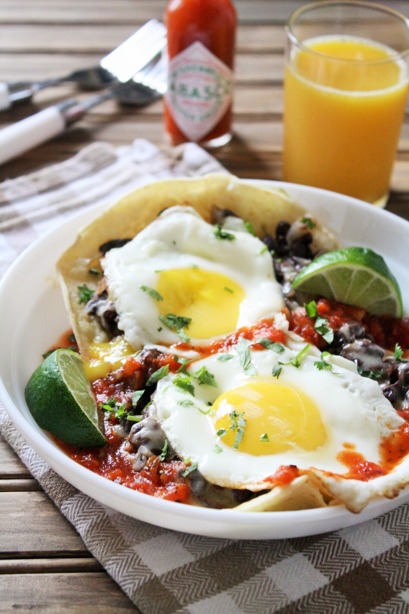 Meatless Monday: Huevos Rancheros with Homemade Refried Beans