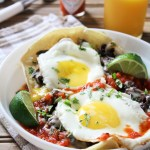Huevos Rancheros with Homemade Refried Beans