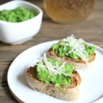Pea Pesto Crostini