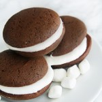 Chocolate Whoopie Pies with Marshmallow Cream Filling