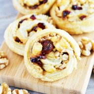Brie, Cranberry and Walnut Pinwheels