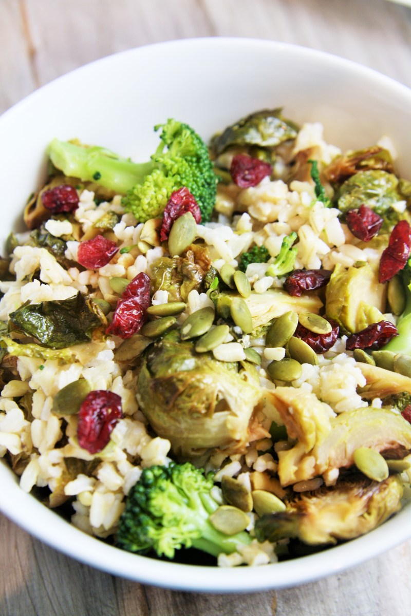 Autumn Harvest Vegetables and Brown Rice Salad