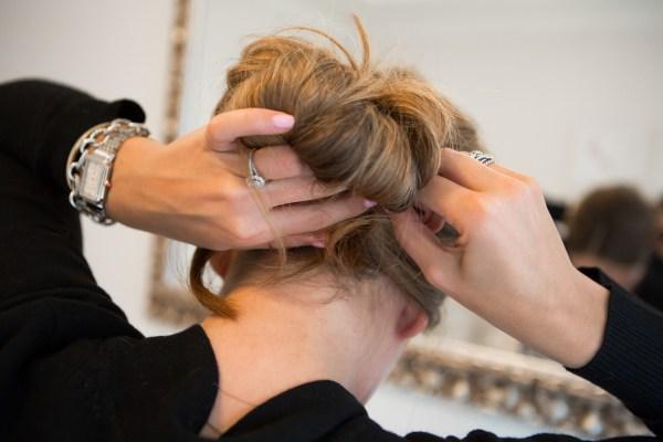 chignon hair tutorial