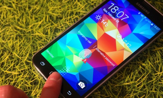 Fingerprint Scanner-Samsung Galaxy S5