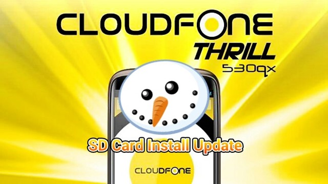Cloudfone To Update 530qx To Version 5–Will Allow SD Installs For App Data (Hooray!)