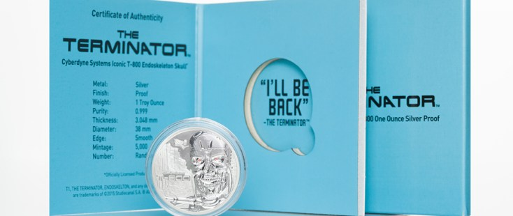 Stardust Silver T-800 The Terminator Coin