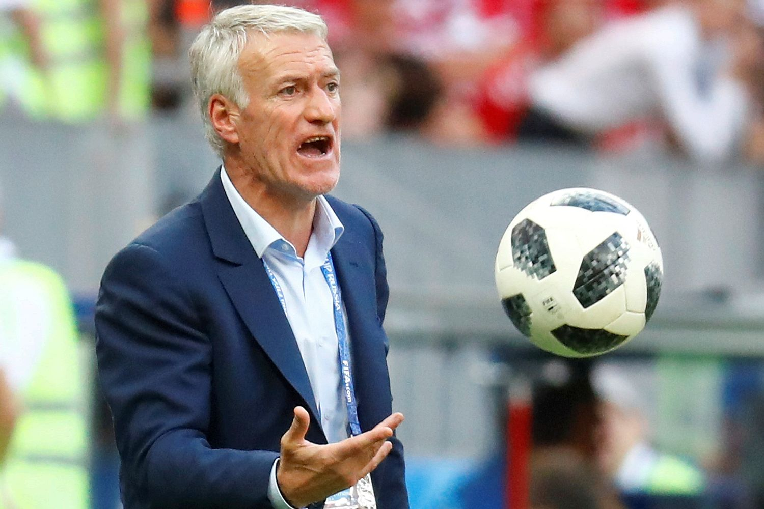 World Cup  Didier Deschamps staying resolute as Argentina challenge     Deschamps led France to qualification for the knockout stage as group  winners but the fans are