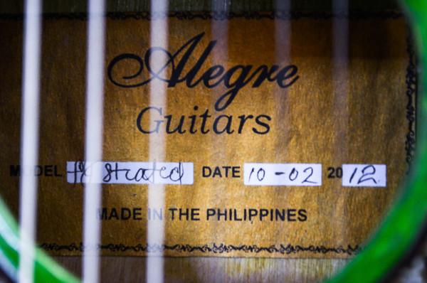 Alegre Guitars makers tag