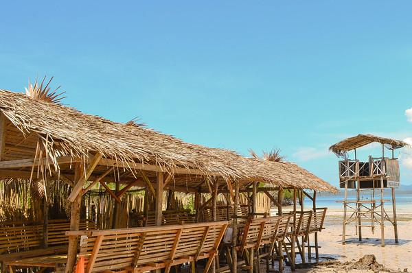 Beach Nipa Huts