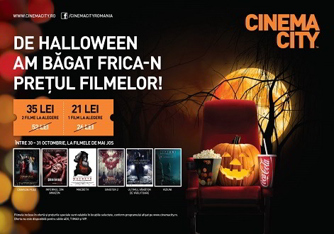 Super ofertă de Halloween la Cinema City