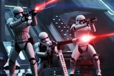 Star Wars: The Force Awakens First Order Troopers Ph: David James © 2015 Lucasfilm Ltd. & TM. All Right Reserved.