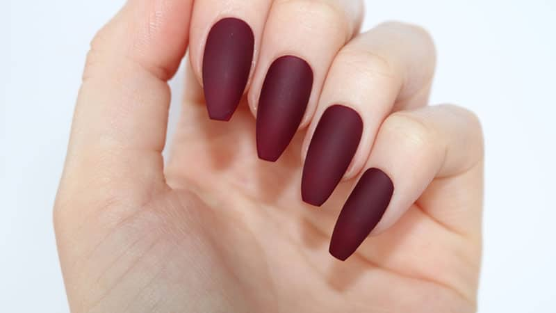 20 Beautiful Coffin Shape Nail Designs   The Trend Spotter Coffin and Ballerina Nail Shape