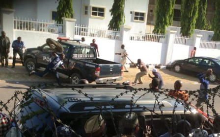 Violence at APC Headquarters in Abuja over Kogi elections on Monday, November 30, 2015
