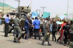 Heavy presence of military troops on the streets of Yenagoa, capital of Bayelsa as citizens protest role of military in December 5, 2015 elections | Facebook