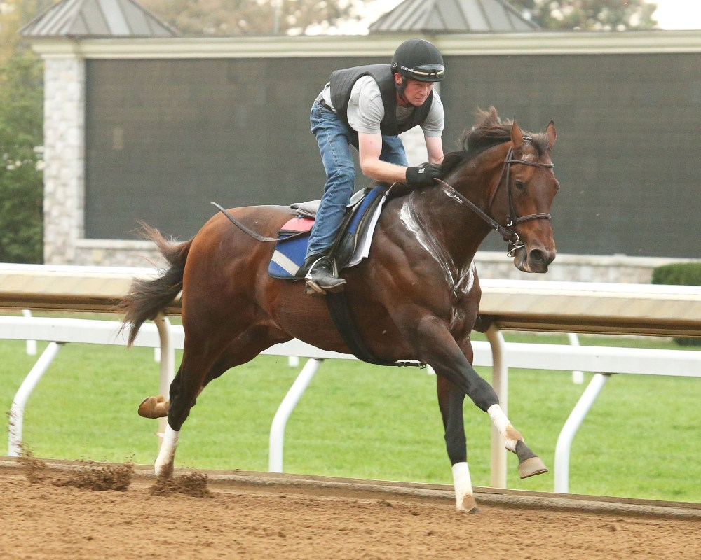 Runhappy Works a Mile at Keeneland