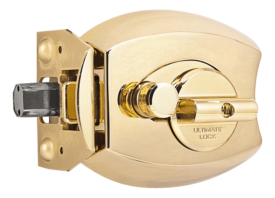 ultimate lock polished brass