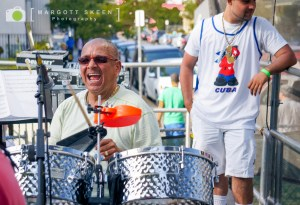 Calixto Oviedo, drums and timbal, AC Jazz Project. Photo by Margott Skeen.