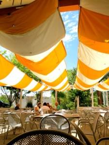 The Trio Cottonwood patio in Salt Lake City.