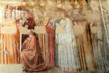 """Men go to preach, and if they get a laugh their cowls puff up with pride. They ask no more."" (Image Giotto, photo Wolfgang Sauber)"