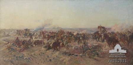 Painting by George Lambert (c/-Australian War Memorial)