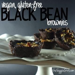 Black Bean Brownies {vegan, gluten-free}    theVeggieGirl.com