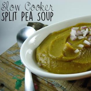 Slow Cooker Split Pea Soup {vegan, gluten-free}