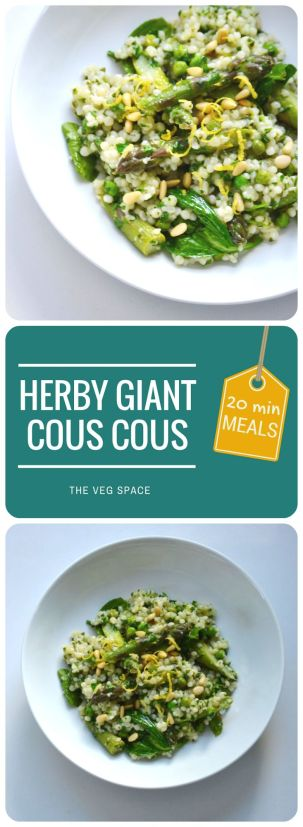 Herby Giant Cous Cous | The Veg Space