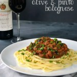 Recipe: 'Tipsy' Linguine with Red Wine, Olive & Pinto Bolognese