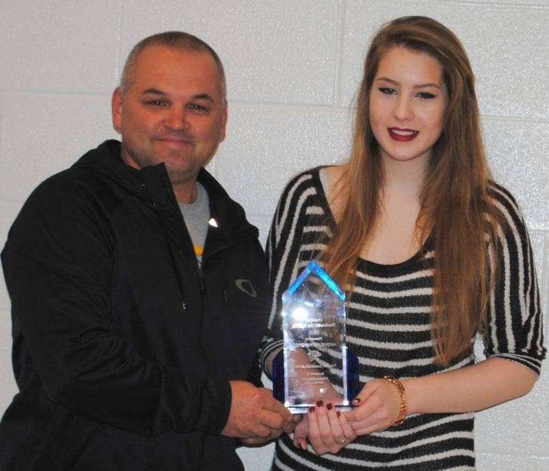 Stryker Senior Recognized As October Student Of The Month