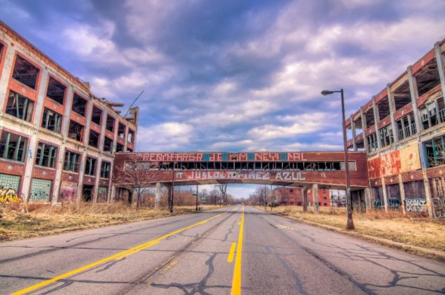 Constructed in 1903, the Detroit factory employed 40,000 at its peak before closing in 1958.