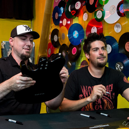 Tvd in store breaking benjamin meet greet at gallery of sound 6 wilkes barre pas favorite sons breaking benjamin armed with a brand new record in stores dark before dawntheir first in 6 yearscelebrated its arrival m4hsunfo