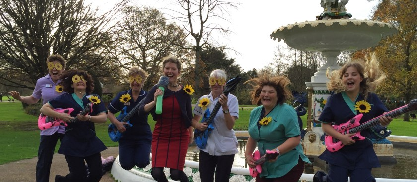 St Margaret's Hospice staff getting in the mood before Status Quo_2