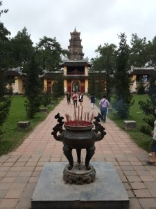 The Thiên Mụ Pagoda. Love to imagine what it was like when monks were ambling around comfortable on their grounds.