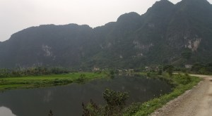 Road to Hoalu Eco Homestay. This hostel really was in the middle of all the nature in Ninh Binh!