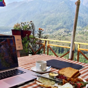 Working from Vashisht alway had amazing views